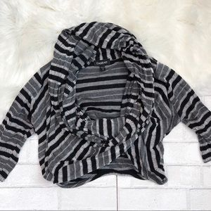 Bebe striped jersey wrap top